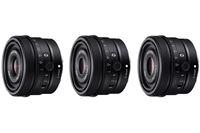 ソニーが24mm/40mm/50mmの単焦点「Gレンズ」3本発表、価格は3本とも税込79,000円