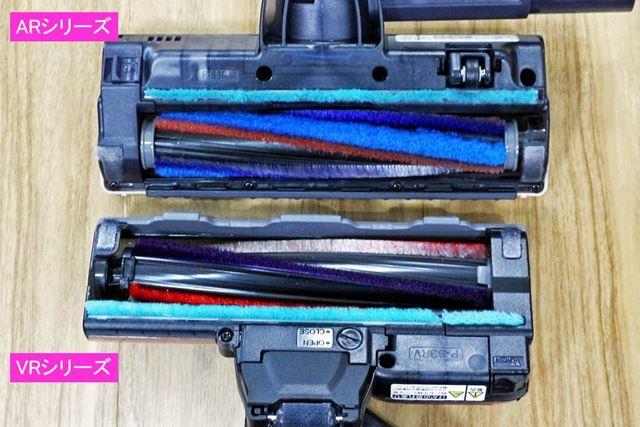 サイドの樹脂部分のムダを省くことで、ブラシ幅は変えずにヘッドのコンパクト化を実現