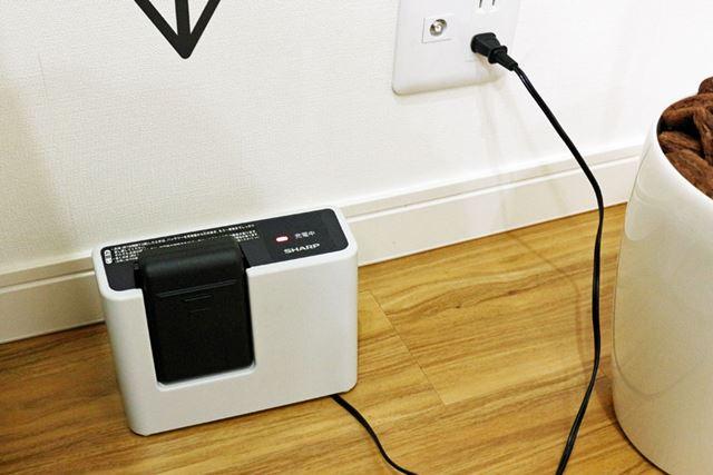バッテリー残量ゼロの状態から満充電まで約80分かかります