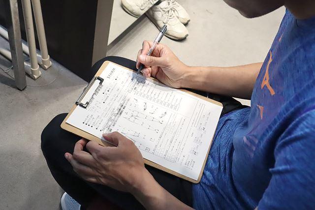 「お客様シート」には、ランニング歴や練習頻度、身体の痛みの部位などを記入する