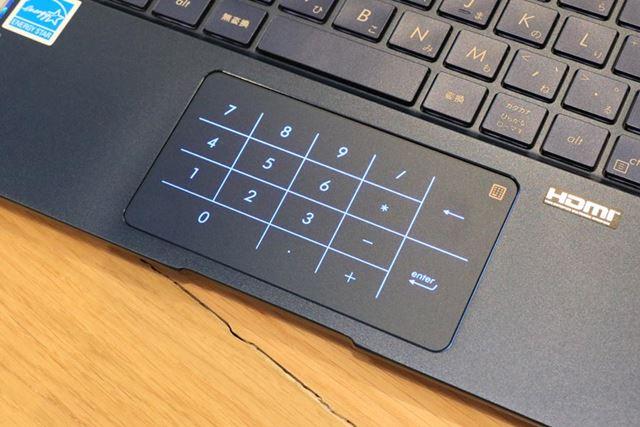 テンキー機能を備えるNumberPad