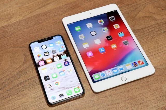 iPhone XS Max(6.5型)と新型iPad mini(7.9型)