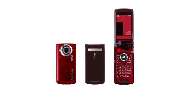 カシオ「EXILIMケータイ W53CA」(au)。デジカメブランドを冠した携帯電話シリーズの走り