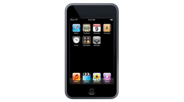 アップル「iPod touch」。「iPhone 3G」のベースともなった音楽プレーヤーだ