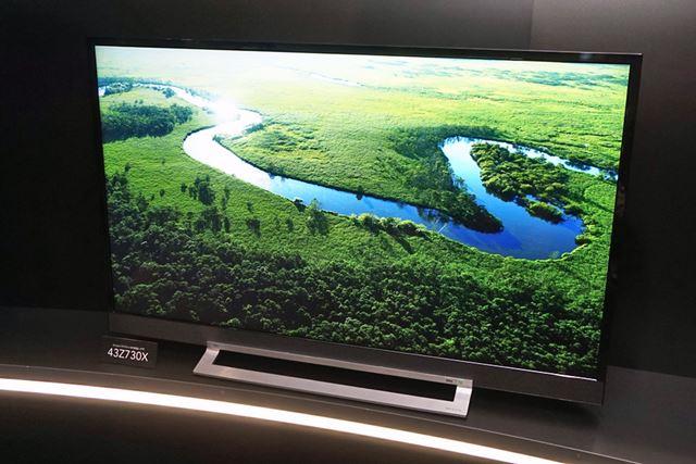 4K液晶テレビの上位モデルとしては珍しい小型モデルの43型モデルもランアップ