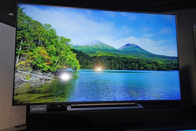 「M530X」シリーズにも大画面モデルをラインアップ。写真は65型「65M530X」