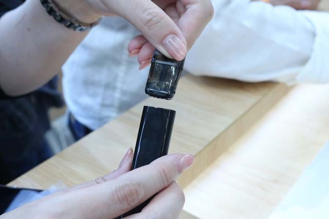 ポッドに吸い口が付いているのでセットに手間がかからないのはもちろん、より衛生的に使用できる