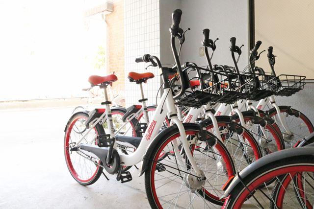 豊島区内のポート。今回紹介する中で唯一電動アシスト自転車ではないPiPPAですが、軽量設計で乗り心地が工夫されています