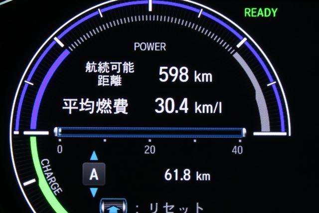 ホンダ 新型「インサイト」高速道路における実燃費結果は「30.4km/L」
