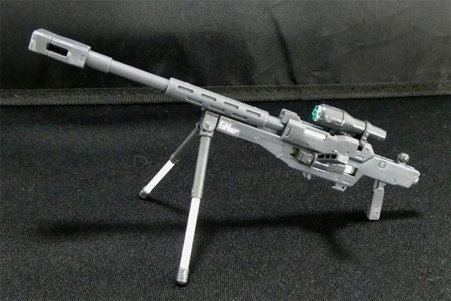 GNスナイパーライフル下部のバイポッドで固定狙撃姿勢を再現可能