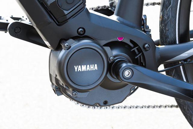 高いケイデンス(ペダルの回転数)に対応したe-Bike専用の「PWseries SE」アシストユニットを搭載