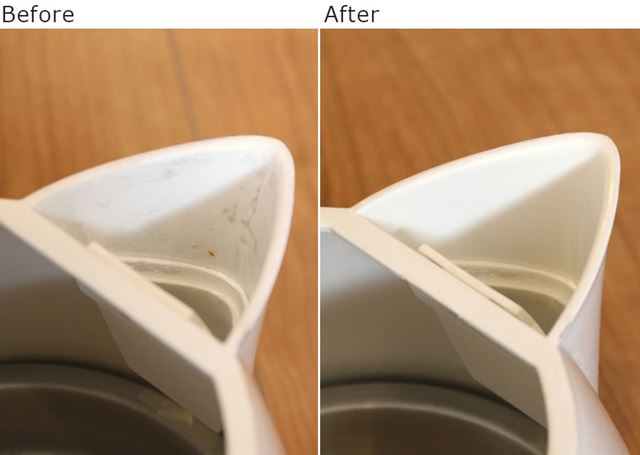 重曹水できれいに拭いた注ぎ口にセット。注ぎ口は小まめに拭いて、清潔さを保っておきたいですね