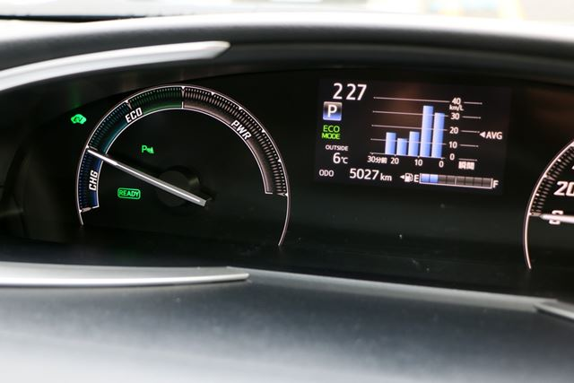 今回試乗したハイブリッド車の燃費は平均18.4km/Lと、かなり良好