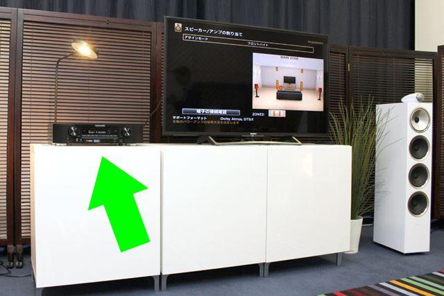 テレビラックに収まりやすいサイズ感なのがおわかりいただけるだろうか