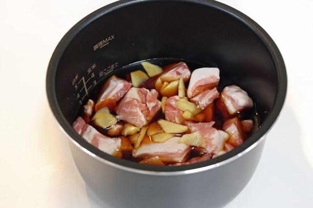 食材に対し、煮汁が少ないように感じますがこれくらいでいいのだそう