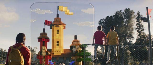 大きな建造物を現実世界に設置可能