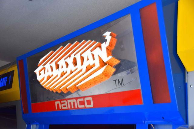 入り口には、当時の「GALAXIAN3」というロゴがあった