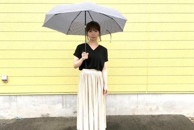59cmあるので、折りたたみでもしっかり雨から守ってくれますよ