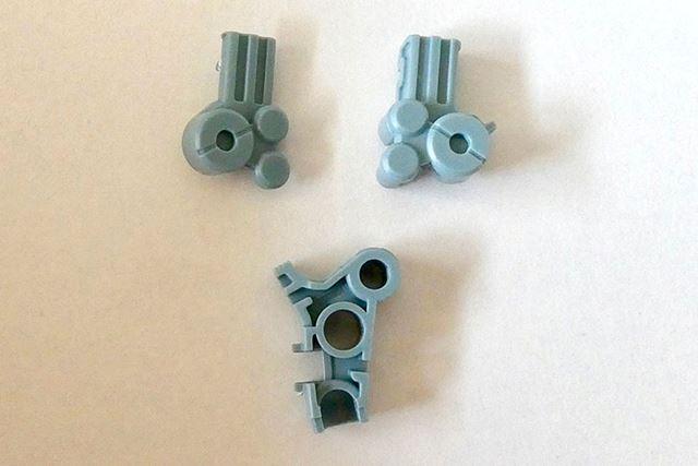 この3つのパーツで腕の内部構造を作ります