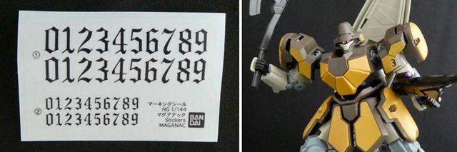 ナンバーのマーキングシールが付属しているので、自分好みに番号を振れます