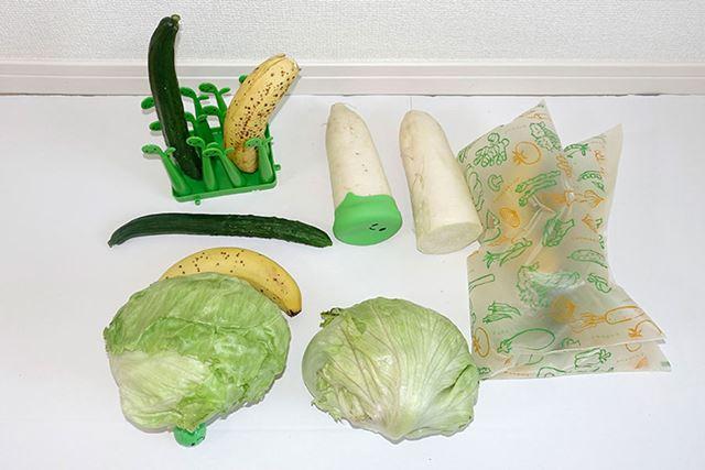 こんな感じで「ベジシャキ」シリーズを使った野菜、使っていない野菜を用意しました