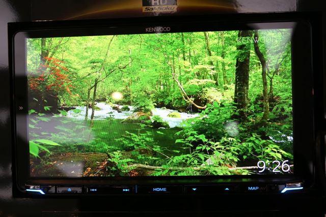 ケンウッド「彩速ナビ」TYPE M シリーズは、HDパネルが搭載されることで高画質化を実現している