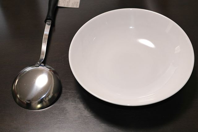 お玉と皿!