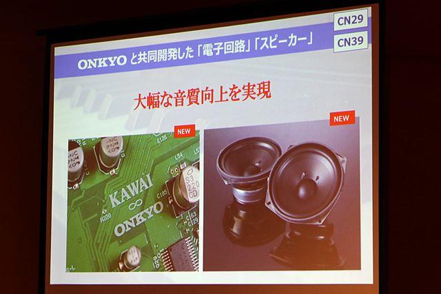 オンキヨーのオーディオ技術によって、再生クオリティを向上させているのがポイント