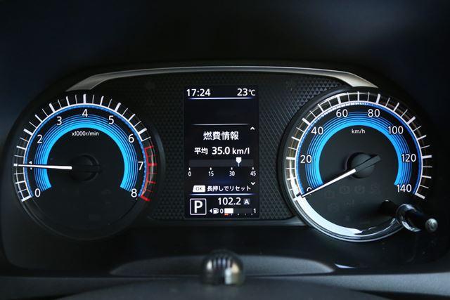 帰りの高速道路の燃費は「35.0km/L」を記録した