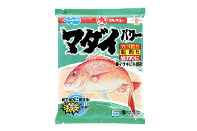 まき餌にするオキアミと混ぜることで、真鯛の寄りと食いをよくすることができる