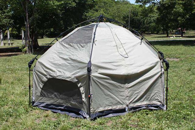 これでテントの立ち上げ作業は終了!
