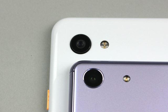 両機種ともメインカメラにはシングルカメラを採用している