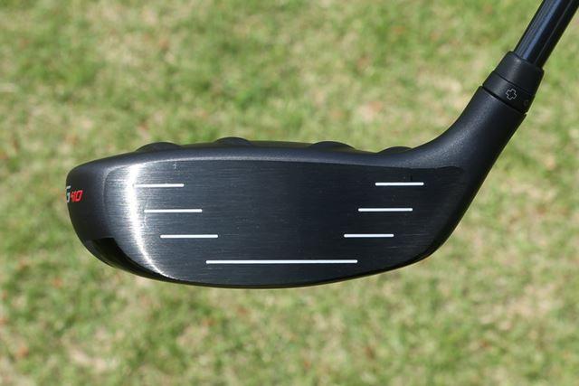 フェース面は3タイプ共通のマレージング素材を使用。シャローな形状も共通です