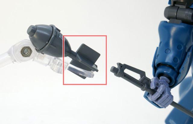 弾頭部分を外し、形態を変えることができます。弾頭部分は合わせ目が出ないパーツ構造をしています