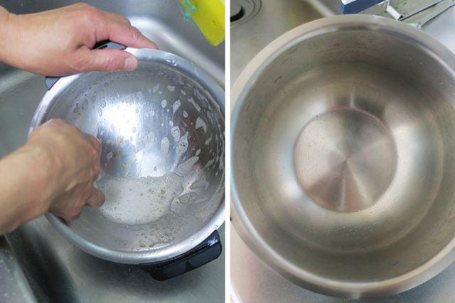 台所洗剤で洗ってみると、完全にキレイになりました