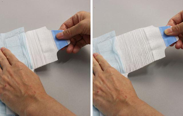 しかも、テープには伸縮性が備えられています