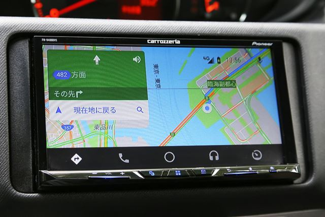 「Android Auto」による「Googleマップ」画面