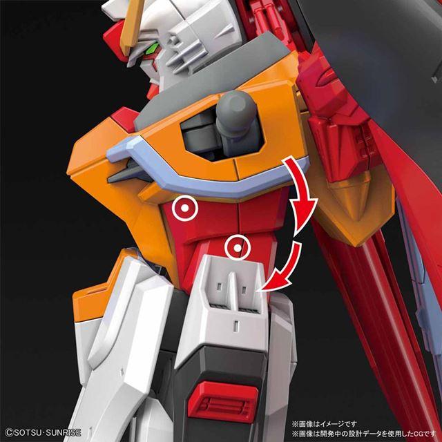 胴体に内蔵された二重関節により、前屈アクションを再現