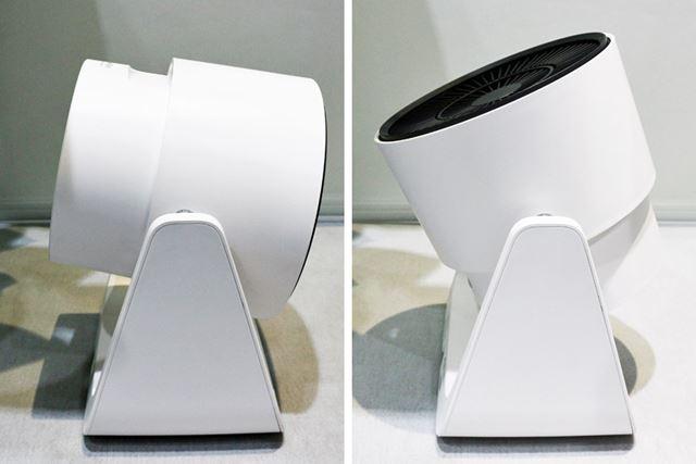 首振り機能は搭載されていませんが、上下の角度は手動で変更可能。下-10/上110°の範囲で可動します