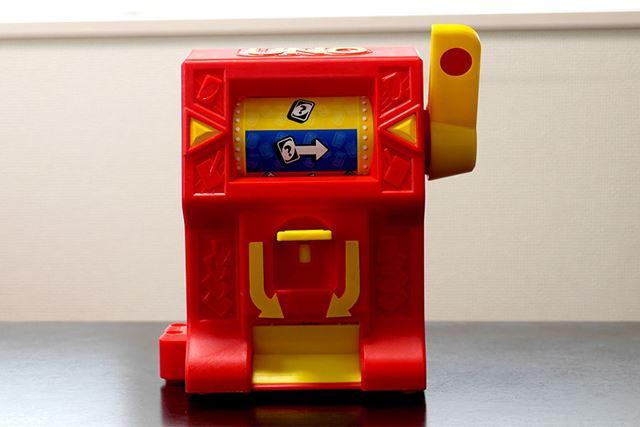 「UNOワイルド・ジャックポット」のほうには、その名の通りジャックポットマシンが付属しています