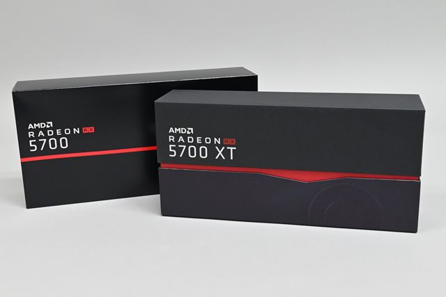 レビュワーズキットの中に収められていた「Radeon RX 5700 XT」と「Radeon RX 5700」