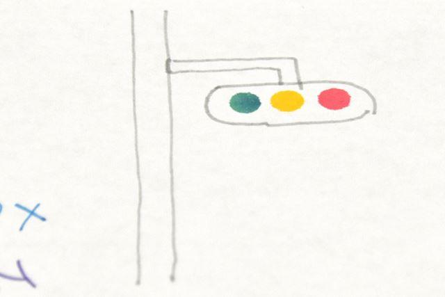 編集・牧野渾身の一作「信号機 with ZIGクリーンカラードット」