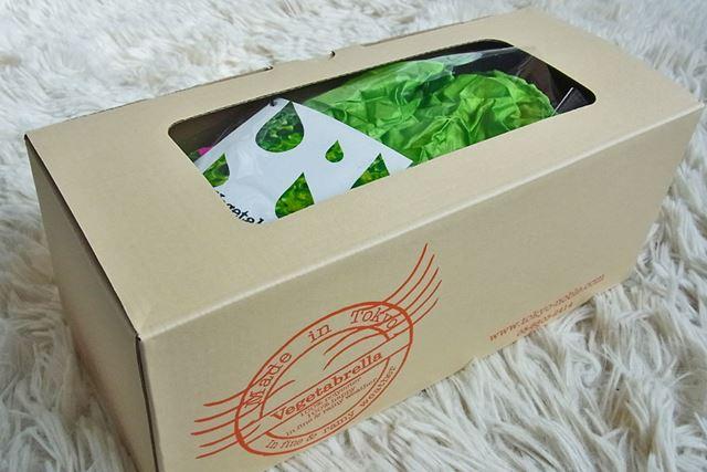 こんな箱に入って届きました。産地直送の高級野菜みたい♪