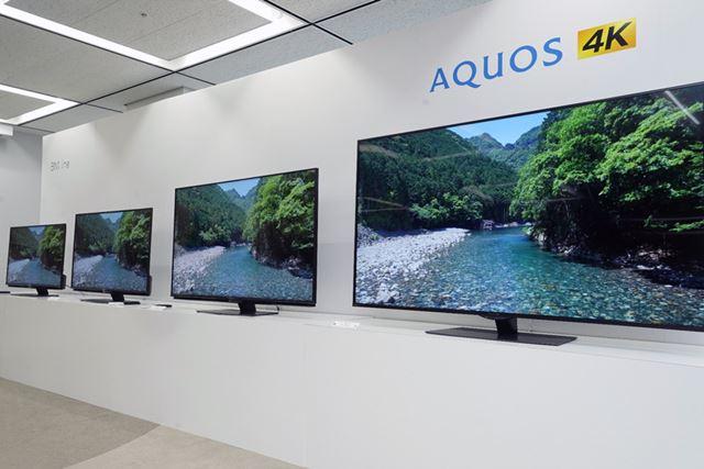 「AQUOS 4K」の上位シリーズとなるBN1ライン