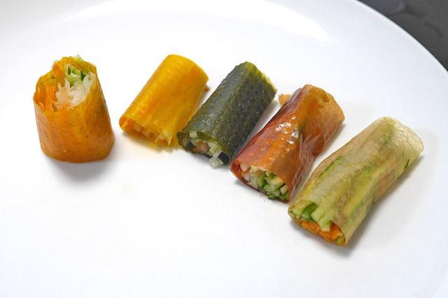 野菜ロールの完成!
