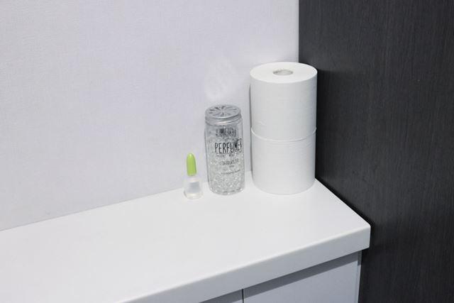 主張しすぎないので、トイレの見える所に置いてもスマートな印象