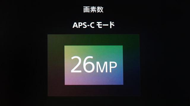 APS-Cクロップ時でも有効約2620万画素の解像度が得られる
