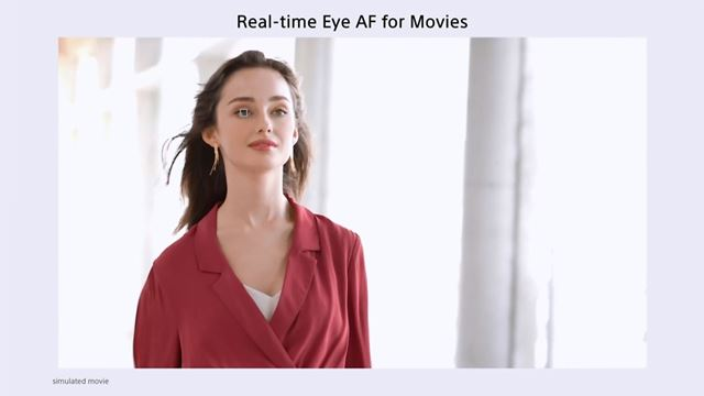 動画撮影時にリアルタイム瞳AFを利用できるようになった(※人物の瞳AFのみの対応。動物の瞳AFは非対応)