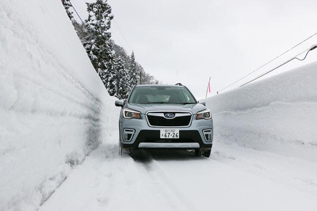 豪雪地帯での試乗も、スタッドレスタイヤでまったく不安なところもなく走行できた