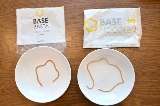 「BASE NOODLE」のほうが細くなった代わりに(?)、1本が長くなりました
